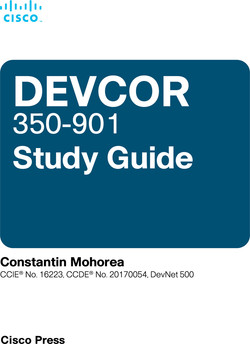 Cisco DEVCOR 350-901 Study Guide