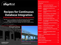 Recipes for Continuous Database Integration: Evolutionary Database Development