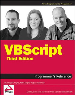 VBScript Programmer's Reference, Third Edition