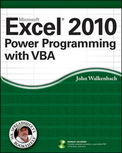 Excel® 2010 Power Programming with VBA