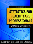 Cover of Statistics for Health Care Professionals: Working With Excel, 2nd Edition