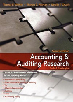 Accounting Research: Tools and Strategies, 7th Edition