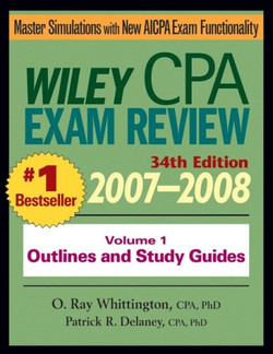 Wiley CPA Exam Review 2007–2008: Volume 1, Outlines and Study Guides, 34th Edition