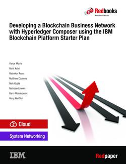 Developing a Blockchain Business Network with Hyperledger Composer using the IBM Blockchain Platform Starter Plan