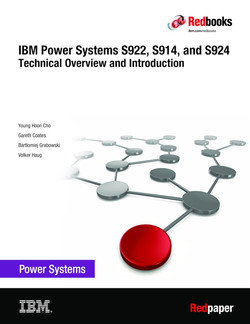 IBM Power Systems S922, S914, and S924 Technical Overview and Introduction
