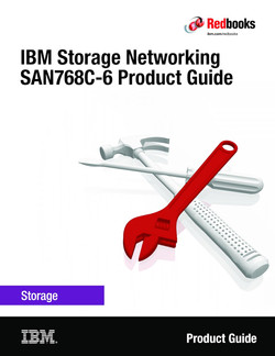 IBM Storage Networking SAN768C-6 Product Guide