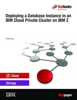 Deploying a Database Instance in an IBM Cloud Private Cluster on IBM Z