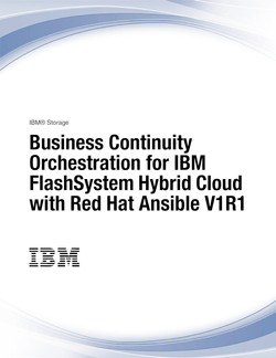 Business Continuity Orchestration for IBM FlashSystem Hybrid Cloud with Red Hat Ansible V1R1