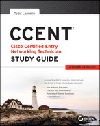 Cover of CCENT: Cisco Certified Entry Networking Technician Study Guide: ICND1 Exam 100-101