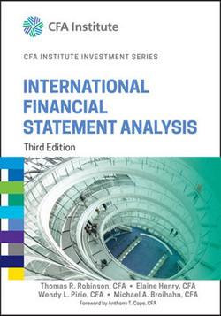 International Financial Statement Analysis, 3rd Edition