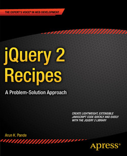 jQuery 2 Recipes: A Problem-Solution Approach