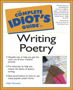 Complete idiot's guide to writing poetry