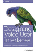 Cover of Designing Voice User Interfaces