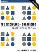Book cover of The Discipline of Organizing: Professional Edition - click to open in a new window
