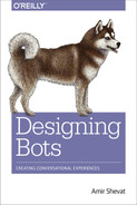 Cover of Designing Bots, 1st Edition