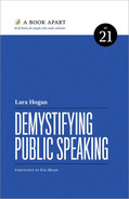 book cover: Demystifying Public Speaking