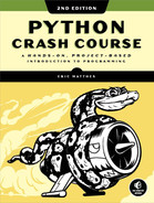 "<strong class=""highlight"">Python</strong> Crash Course, 2nd Edition"