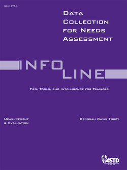 Data Collection for Needs Assessment