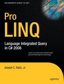 Pro LINQ: Language Integrated Query in C# 2008