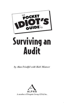 The Pocket Idiot's Guide™ To Surviving an Audit