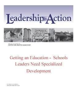 Leadership in Action: Getting an Education - Schools Leaders Need Specialized Development