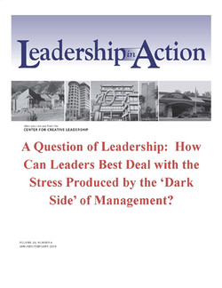 Leadership in Action: A Question of Leadership: How Can leaders Best Deal with the Stress Produced by the 'Dark Side' of Management?