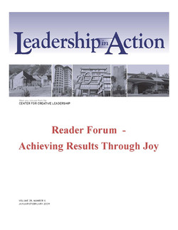 Leadership in Action: Reader Forum - Achieving Results Through Joy