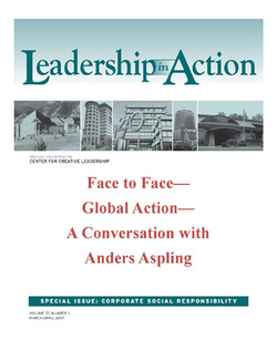 Leadership in Action: Face to Face—Global Action—A Conversation with Anders Aspling