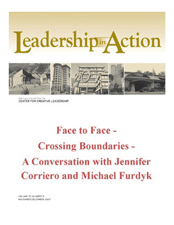 Leadership in Action: Face to Face - Crossing Boundaries - A Conversation with Jennifer Corriero and Michael Furdyk