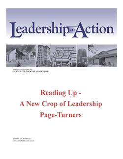 Leadership in Action: Reading Up - A New Crop of Leadership Page-Turners