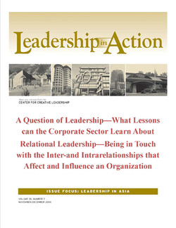 Leadership in Action: A Question of Leadership—What Lessons can the Corporate Sector Learn About Relational Leadership—Being in Touch with the Inter-and Intrarelationships that Affect and Influence an Organization