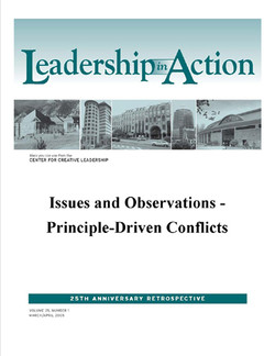 Leadership in Action: Issues and Observations - Principle-Driven Conflicts