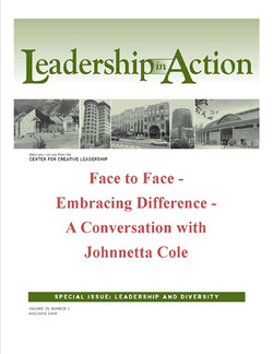 Leadership in Action: Face to Face - Embracing Difference - A Conversation with Johnnetta Cole