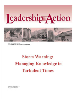 Leadership in Action: Storm Warning - Managing Knowledge in Turbulent Times