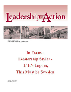 Leadership in Action: In Focus - Leadership Styles - If It's Lagom, This Must be Sweden