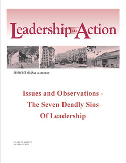 Leadership in Action: Issues and Observations - The Seven Deadly Sins of Leadership