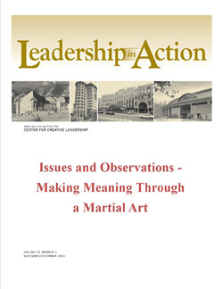 Leadership in Action: Issues and Observations - Making Meaning Through a Martial Art