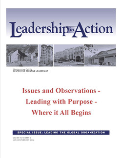 Leadership in Action: Issues and Observations - Leading with Purpose - Where it All Begins