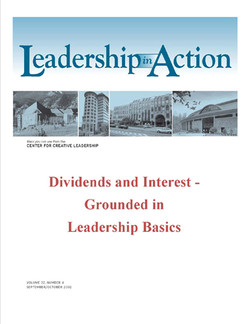 Leadership in Action: Dividends and Interest - Grounded in Leadership Basics