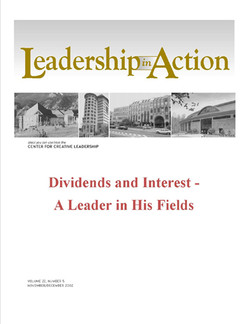 Leadership in Action: Dividends and Interest - A Leader in His Fields