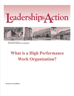 Leadership in Action: What is a High Performance Work Organization?