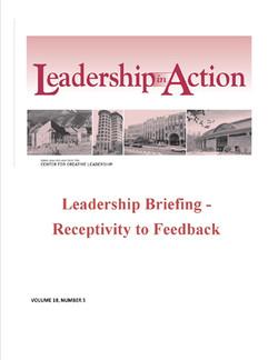 Leadership in Action: Leadership Briefing - Receptivity to Feedback