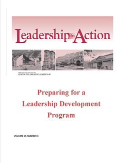 Leadership in Action: Preparing for a leadership Development Program
