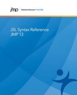 JMP 13 JSL Syntax Reference