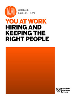 You at Work: Hiring and Keeping the Right People
