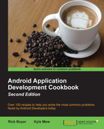 book cover: Android Application Development Cookbook