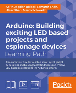 Arduino: Building exciting LED based projects and espionage devices