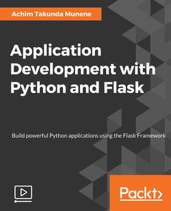 Application Development with Python and Flask