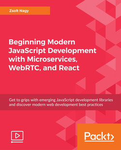 Beginning Modern JavaScript Development with Microservices, WebRTC, and React