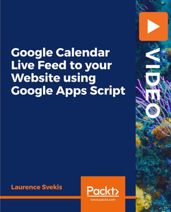 Google Calendar Live Feed to your Website using Google Apps Script